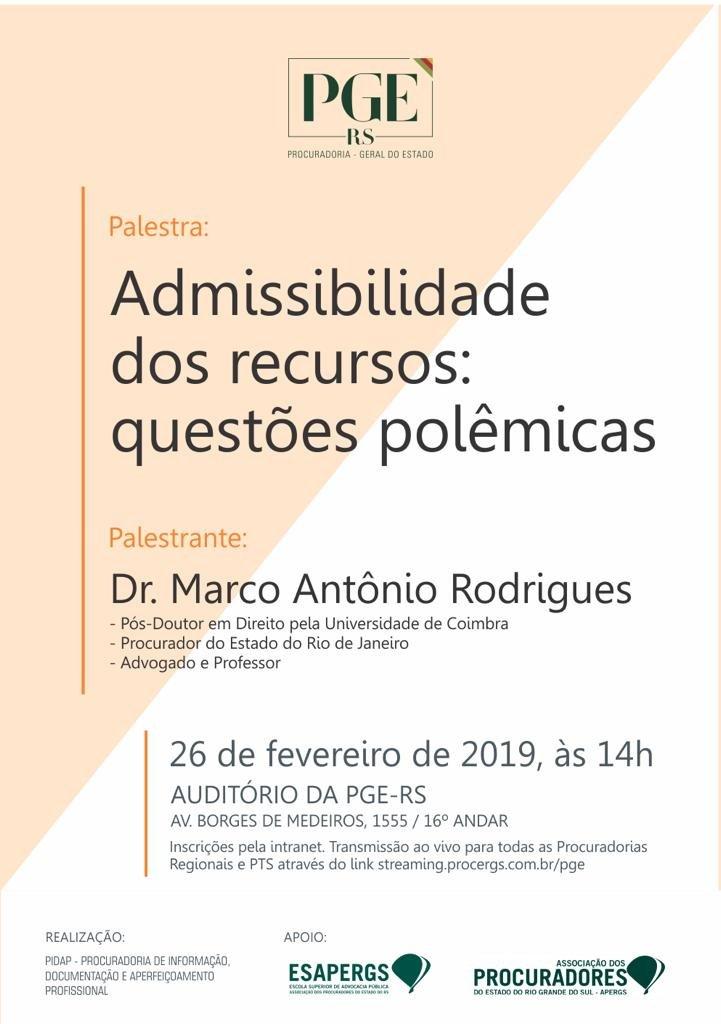 Admissibilidade dos recursos: questões polemicas