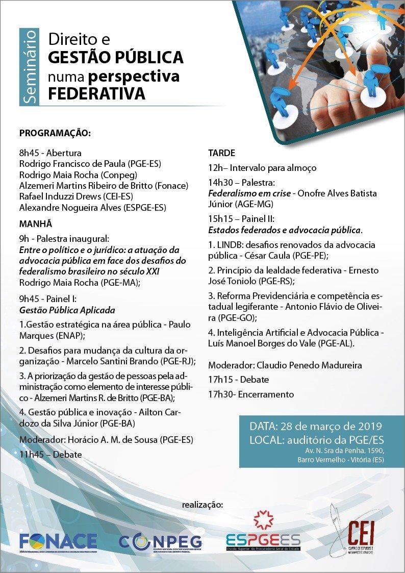 Seminário Direto e Gestão Pública numa perspectiva Federativa