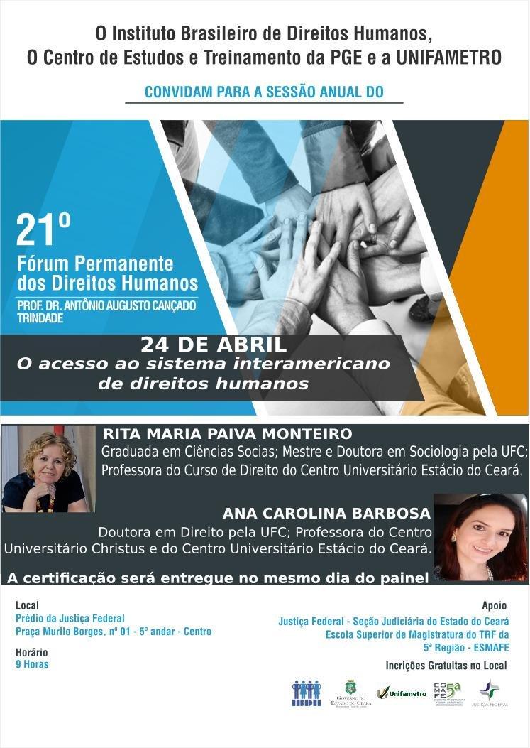 21º Fórum Permanente dos Direitos Humanos