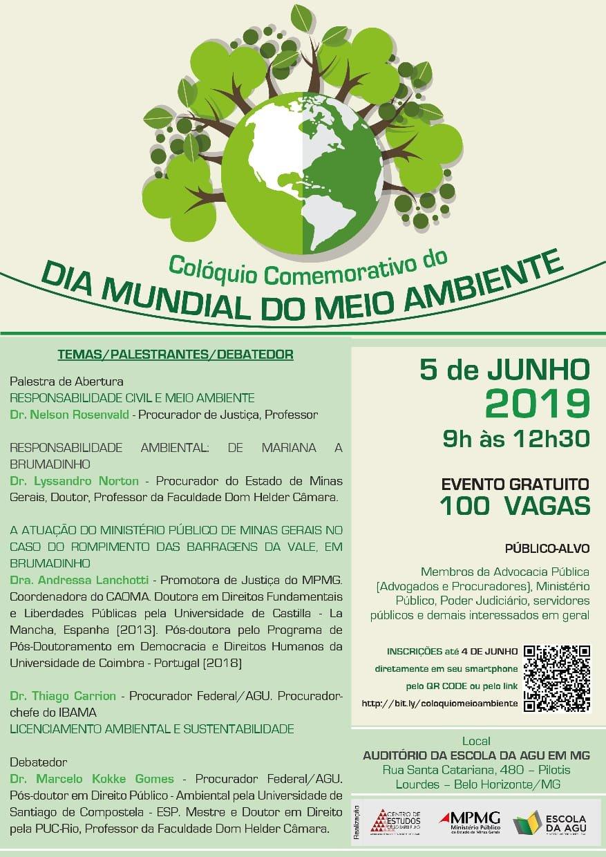 Colóquio comemorativo do Dia Mundial do Meio Ambiente