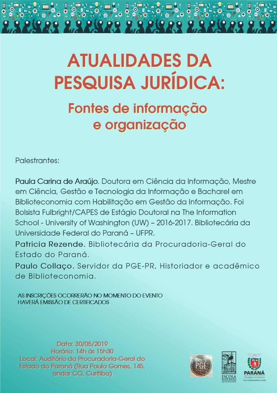 ATUALIDADES DA PESQUISA JURÍDICA