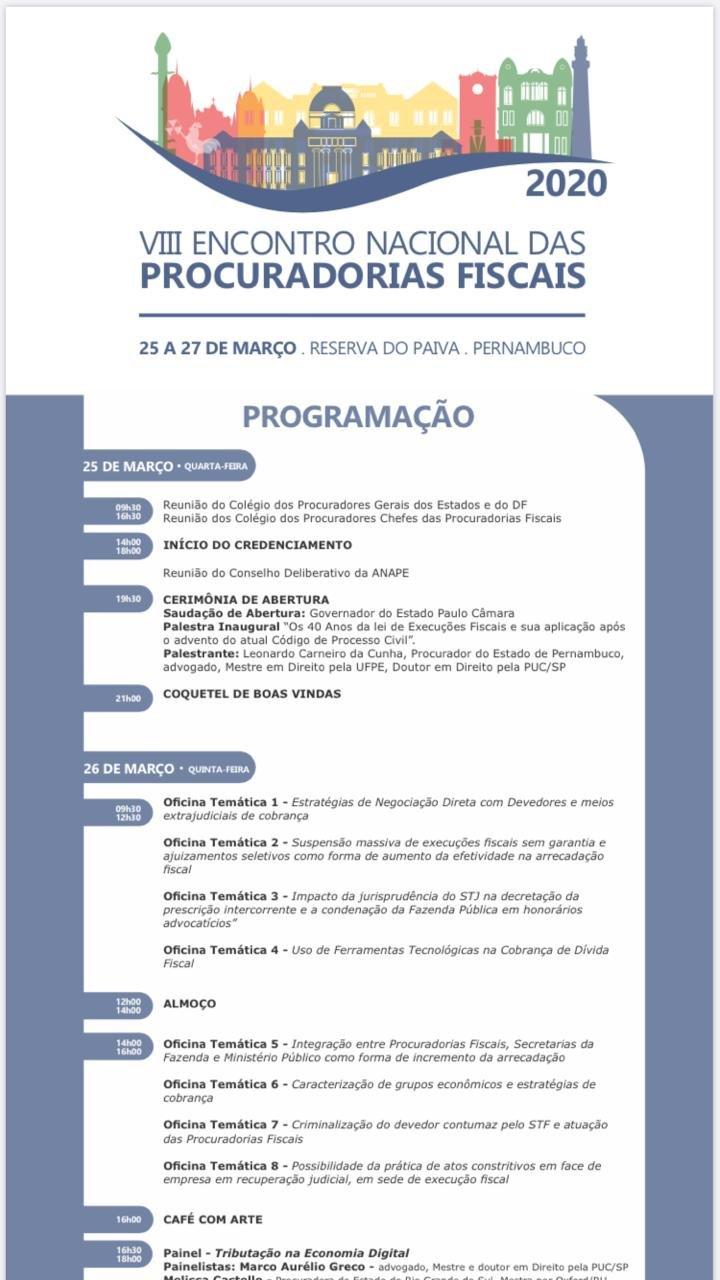 VII ENCONTRO NACIONAL DAS PROCURADORIAS FISCAIS