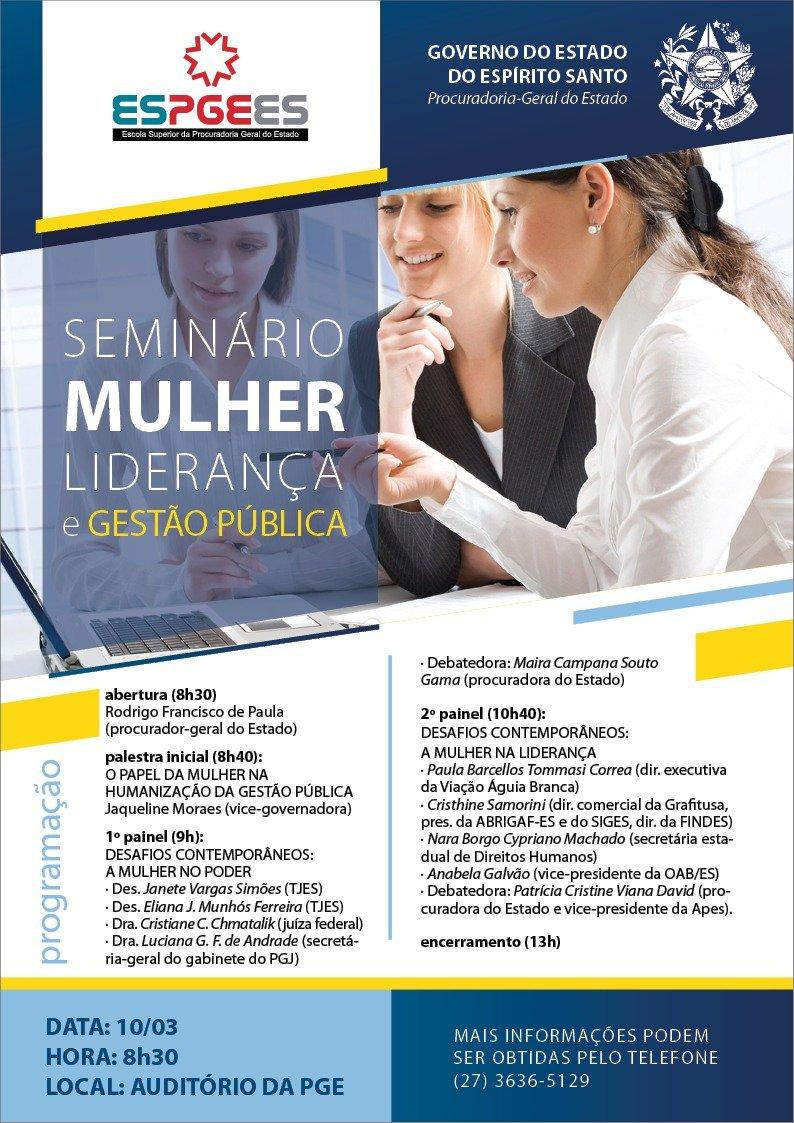 Seminário Mulher Liderança e Gestão Pública